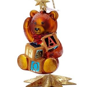 "Christopher Radko ""FAO Bear With Blocks"" Ornament"